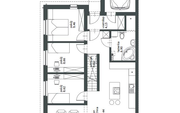 Domy w zabudowie bliźniaczej w Ozorzycach 4484463