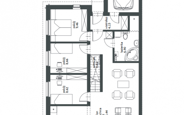 Domy w zabudowie bliźniaczej w Ozorzycach 4484470
