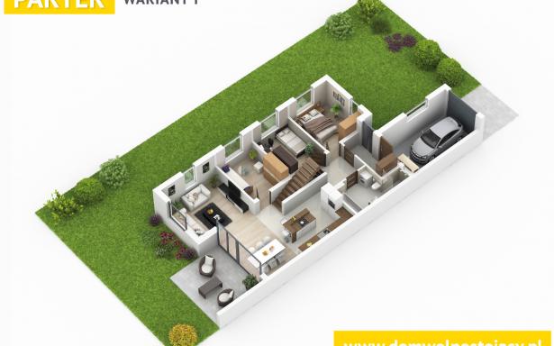 Domy w zabudowie bliźniaczej w Ozorzycach 4484466