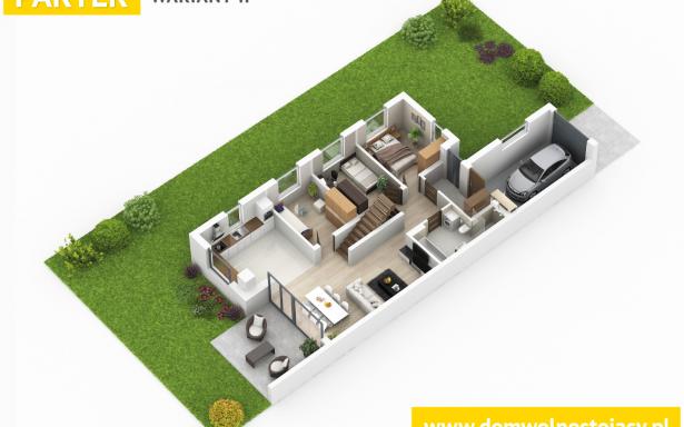 Domy w zabudowie bliźniaczej w Ozorzycach 4484471