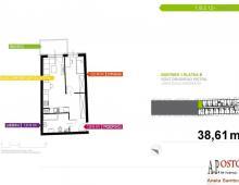 Mieszkanie, na sprzedaż, Wrocław, 38.50 m2 5357175