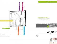 Mieszkanie, na sprzedaż, Wrocław, 46.31 m2 5357167