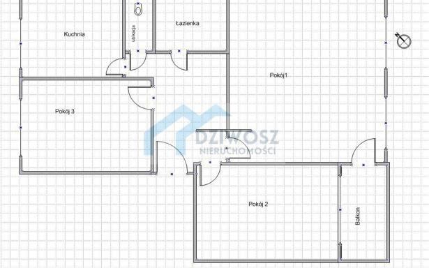 Mieszkanie, na sprzedaż, Wrocław, Królewska, 62.4 m2 5245809