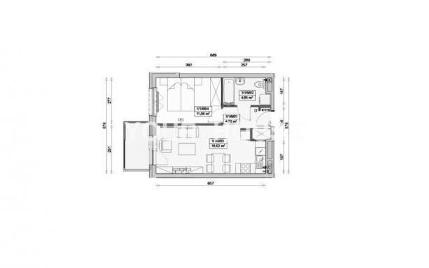 Mieszkanie, na sprzedaż, Wrocław, 46.65 m2 3364670
