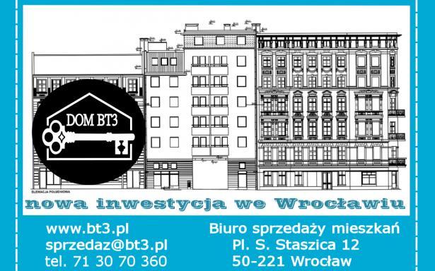 Kawalerka 30,30 m² Wrocław Nadodrze, Biskupa Tomasza Pierwszego 3 5341845