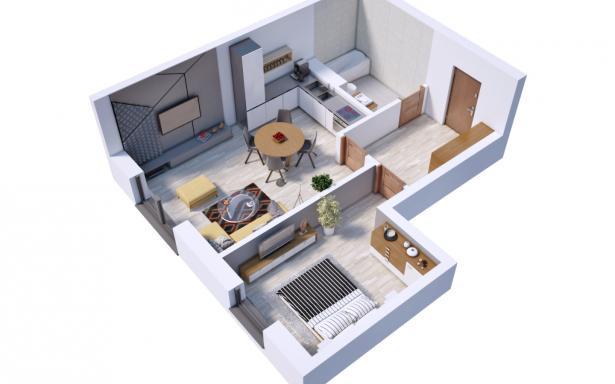 Villa Diamante - Mieszkanie M3 5130372